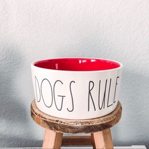 ** SOLD** Rae Dunn Dogs Rule Pet Dish